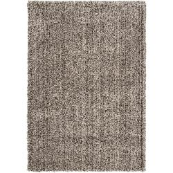 Woven Black Luxurious Soft Shag Area Rug (5'3