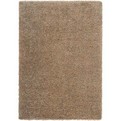 "Woven Abstract Tan Luxurious Soft Shag Rug (7'10"" x 10'6"")"