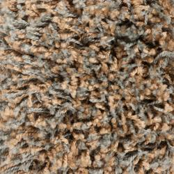 Woven Tan Polypropylene Luxurious Soft Shag Rug (6'7