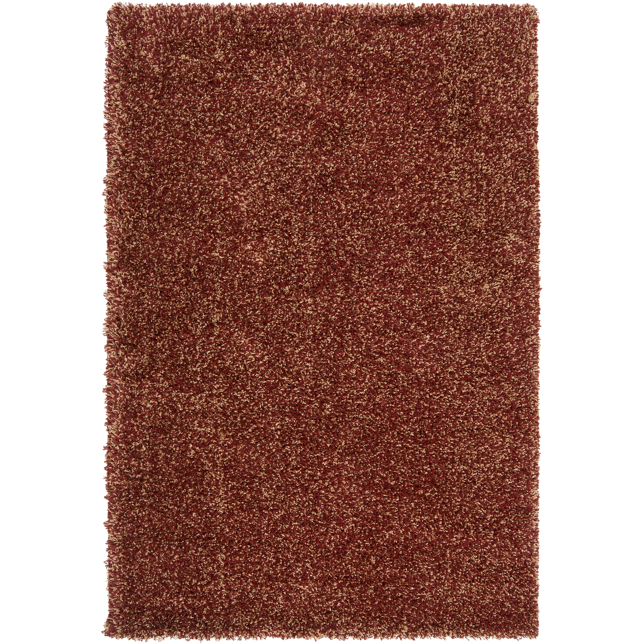 "Woven Red Luxurious Soft Machine-Made Shag Rug (7'10"" x 10'6"")"