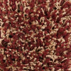 "Woven Red Luxurious Soft Machine-Made Shag Rug (7'10"" x 10'6"")"