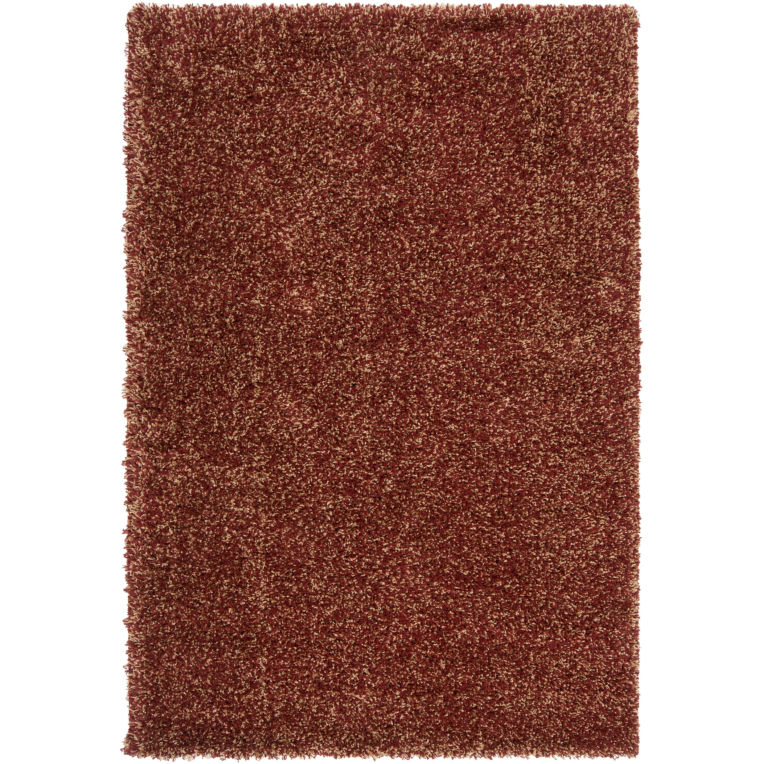 "Modern Woven Tan Luxurious Soft Shag Rug (5'3"" x 7'6"")"