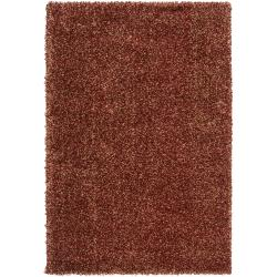 Modern Woven Tan Luxurious Soft Shag Rug (5'3
