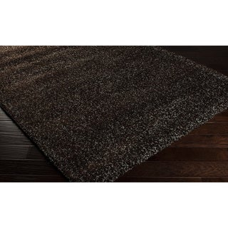 Woven Brown Luxurious Soft Shag Rug (7'10 x 10'6)