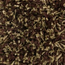 Woven Brown Luxurious Soft Polypropylene Shag Rug (7'10