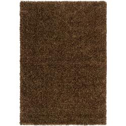 "Woven Brown Luxurious Soft Shag Polypropylene Rug (5'3"" x 7'6"")"