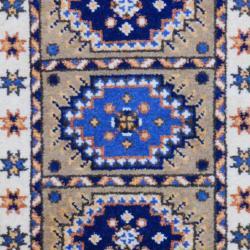 Indo Hand-knotted Kazak Beige/ Gold Wool Rug (2' x 3')