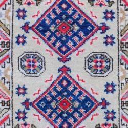 Indo Hand-knotted Kazak Beige/ Ivory Wool Rug (2' x 3')