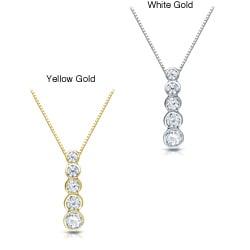 Auriya 14k Gold 1/2ct TDW Diamond Necklace (H-I, I1-I2)