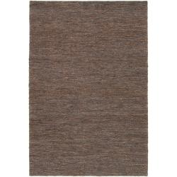 Hand-woven Gray Doctate Natural Fiber Hemp Rug (8' x 11')