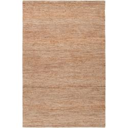 Handwoven Tan Doctate Natural Fiber Hemp Reversible Rug (8' x 11')