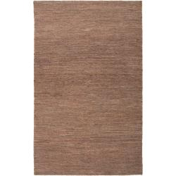 Hand-woven Brown Doctate Natural Fiber Hemp Rug (3'3 x 5'3)