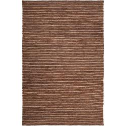 Hand-woven Brown Doctate Natural Fiber Hemp Rug (8' x 11')