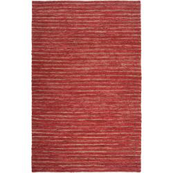 Handwoven Red Doctate Natural Fiber Transitional Hemp Rug (8' x 11')