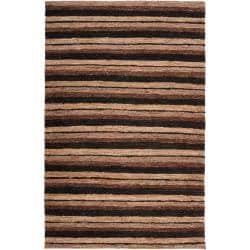 Handwoven Tan Doctate Natural Fiber Indoor Hemp Rug (8' x 11')