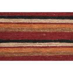 Handwoven Red Doctate Natural Fiber RecRedgular Hemp Rug (8' x 11')