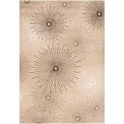 Hand-tufted Tan Essential New Zealand Wool/ Viscose Rug (5' x 8')