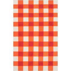Country Living Hand-woven Orange High Kite Wool Rug (5' x 8')