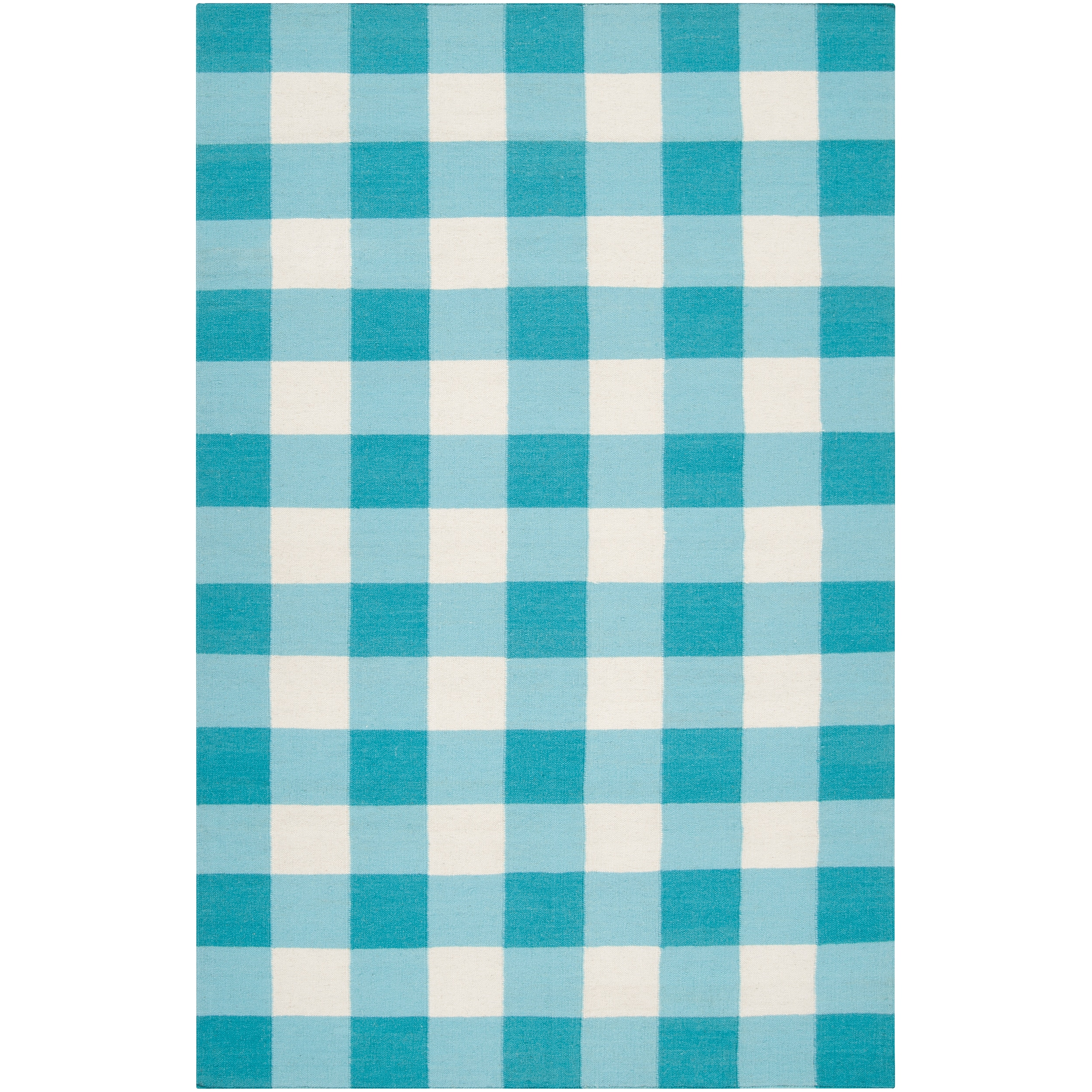 Country Living Hand-woven Blue High Kite Wool Rug (3'6 x 5'6)