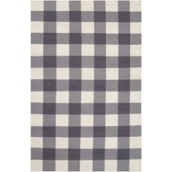 Country Living Hand-woven Gray High Kite Wool Rug (5' x 8')
