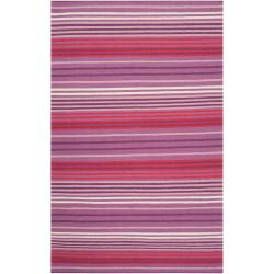 Country Living Hand-woven Purple High Kite Wool Rug (5' x 8')