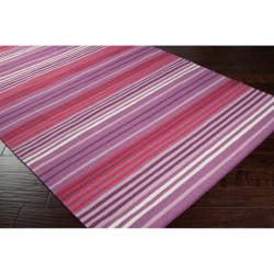 Country Living Hand-woven Purple High Kite Wool Rug (8' x 11')