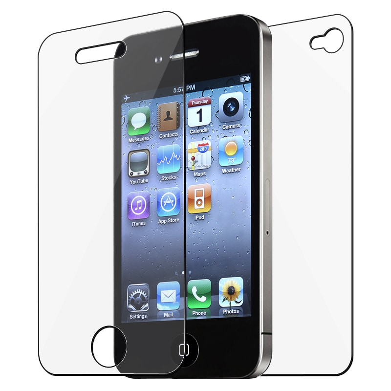 INSTEN Clear Screen Protector for Apple iPhone 4/ 4S [2-LCD Kit]