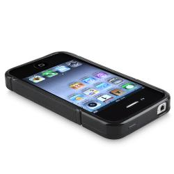 BasAcc Black S Shape TPU Rubber Skin Case for Apple iPhone 4/ 4S