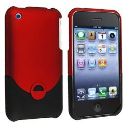BasAcc Black/ Red Snap-on Rubber Coated Case for Apple iPhone 3G/ 3GS