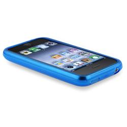 BasAcc Clear Sky Blue TPU Rubber Case for Apple iPhone 3G/ 3GS