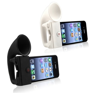 Black Silicone Horn Stand Speaker for Apple iPhone 4/ 4S