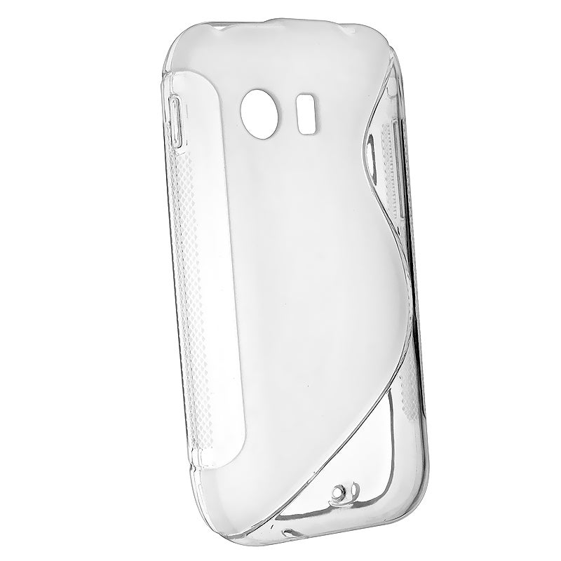 Frost White S Shape TPU Rubber Skin Case for Samsung Galaxy Y S5360