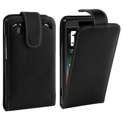 Black Leather Case for HTC Holiday/ Vivid
