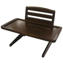Richell Height-adjustable Mahogany-finish Doggy Dining Tray VI