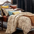 EverRouge Asian Garden King-size 7-piece Cotton Duvet Cover Set