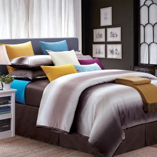 Mocha Galaxy King-size 8-piece Cotton Comforter Set