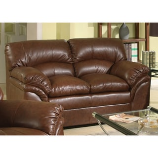 Joyce Brown Bonded Leather Loveseat