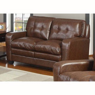 Edward Bonded Leather Loveseat