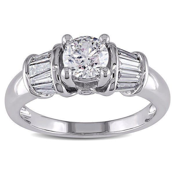 Miadora 14k White Gold 1ct TDW Certified Diamond Ring (H-I, I1-I2)