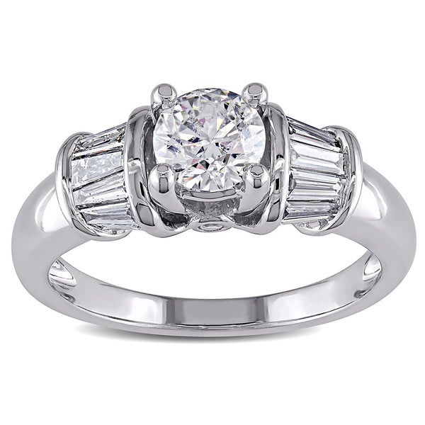 Miadora Signature Collection 14k White Gold 1ct TDW Certified Diamond Ring (H-I, I1-I2)