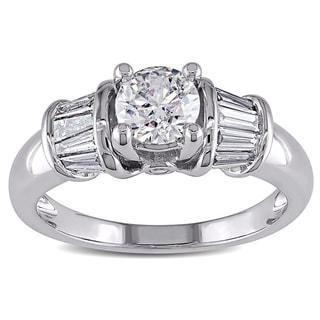 Miadora 14k White Gold 1ct TDW Certified Diamond Ring (H-I, I1-I2)