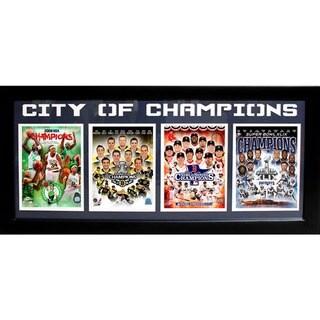 Boston 'City of Champions' Four-photo Sports Frame