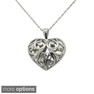Gioelli Sterling Silver Heart Necklace