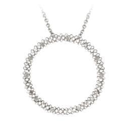 DB Designs Sterling Silver 1/8ct TDW White Diamond Circle Necklace (J, I3)