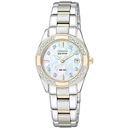 Citizen Women's Eco-Drive Regents Stainless Steel Diamond Watch