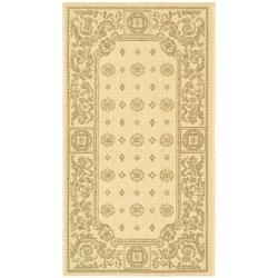 Poolside Natural/ Brown Indoor Outdoor Rug (2' x 3'7)