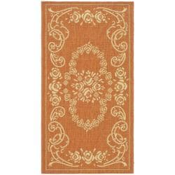 Poolside Terracotta/ Natural Indoor/ Outdoor Accent Rug (2' x 3'7)