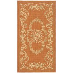 Safavieh Poolside Terracotta/ Natural Indoor/ Outdoor Accent Rug (2' x 3'7)