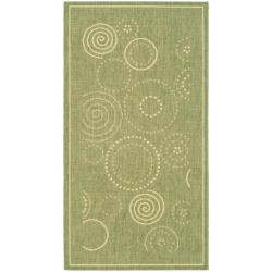 Safavieh Poolside Olive/ Natural Indoor/ Outdoor Accent Rug (2' x 3'7)