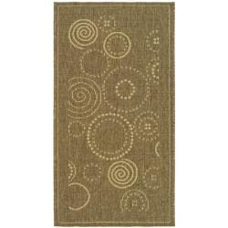 Poolside Brown/Natural Indoor/Outdoor Accent Rug (2' x 3'7